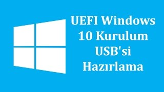 Windows 10 Kurulum USB