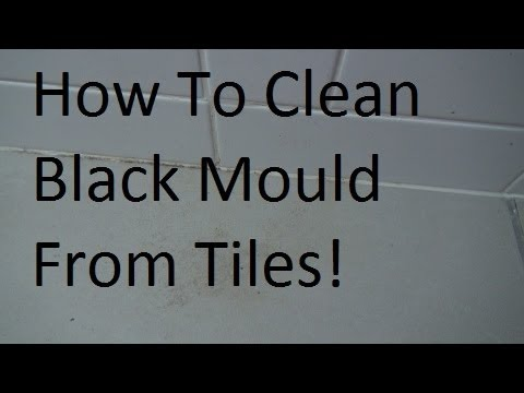 How to clean black mold mould from bathroom tiles youtube for How to clean mold from bathroom