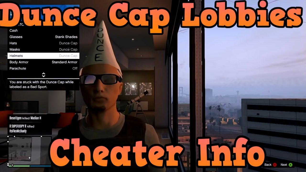 """GTA 5 Online"" Dunce Cap Cheater Lobbies Information ..."