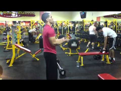 Tricep and bicep workout routine weight training Image 1