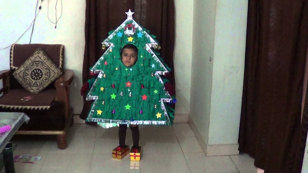 Fancy dress as christmas tree youtube