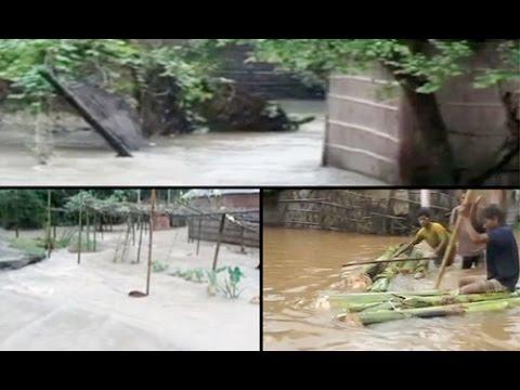 Rajnath Singh visits flood-hit Assam, Meghalaya