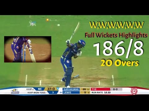 MI VS KXIP Full Match highlights | Mumbai Indians Full Wickets Highlights