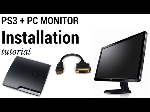 Connect PlayStation 3 (PS3) To Computer (PC) Monitor