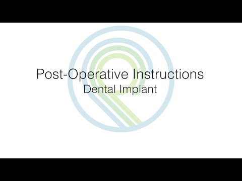 Post-Operative Instructions: Dental Implants   Oral Surgery & Dental Implant Center of Panama City