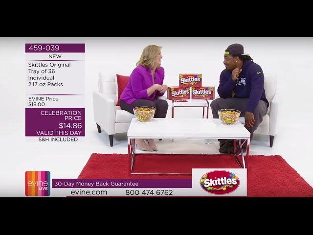 Marshawn Lynch Sells Skittles on EVINE Live