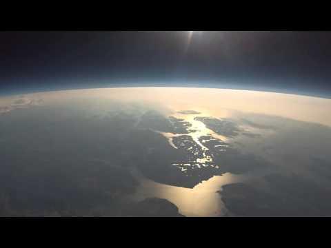 Go Pro запустили в космос на шаре