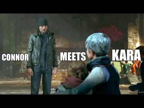 """Detroit Become Human - """"What Happens If"""" Connor Meets Kara - Night Of The Soul"""