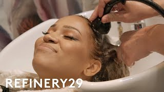 I Bleached My Hair Blonde & Got Curl Restoration | Hair Me Out | Refinery29