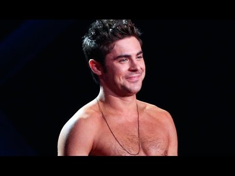 Zac Efron Goes Shirtless - MTV Movie Awards 2014