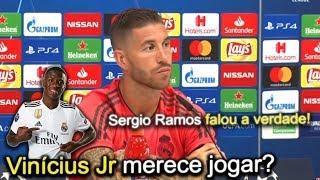 Jornalista pergunta sobre Vinícius JR e Sergio Ramos fala a verdade sobre o garoto