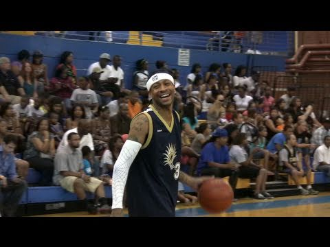 Allen Iverson Goes For 30 at the Crossover Celebrity Basketball Game in Greensboro