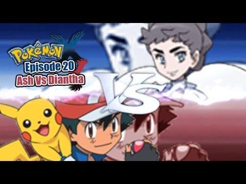 Pokemon X And Y Wifi Battle: Ash Vs Diantha video
