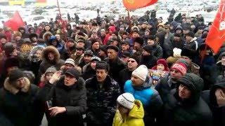 Пикет дальнобойщиков омск видео