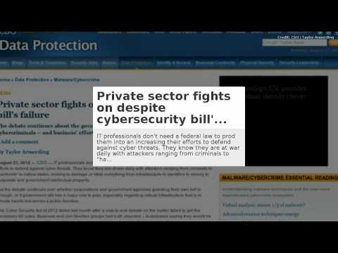 CIC News 26-08-2012: Israel, malware, legislation