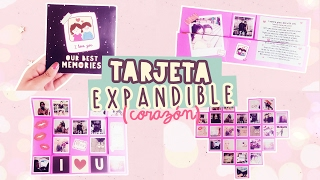 SUPER TARJETA EXPANDIBLE| MURAL DE FOTOS ¡INCREIBLE! |#SanValentín| COOKIES IN THE SKY