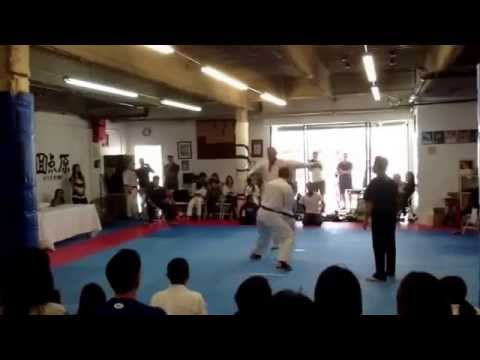 Kamaal's fight at the Los Angeles Kyokushin Karate Tournament(men's Heavyweight) 2014 Image 1