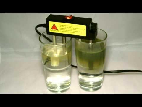 123zuiverwater kraanwater en omgekeerde osmose water electrolyse test