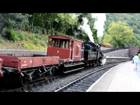 BR Standard Class 2MT 2-6-0 78019 with freight at Llangollen Autumn Gala, 2011