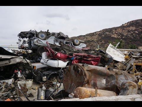 Scrap Metal Recycle Yard Recycling Scrapping Walkaround #throughglass