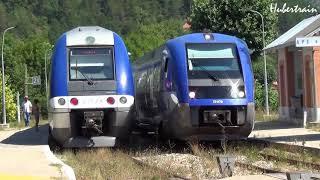 Train : croisements de TER en gare - vidéo 270 HD