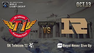 SKT vs RNG | GROUP STAGE Day 2 H/L 10.13 | 2019 Worlds Championship