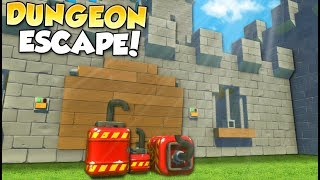 CASTLE JAILBREAK! - Scrap Mechanic Multiplayer Gameplay - Cops & Robbers Challenge