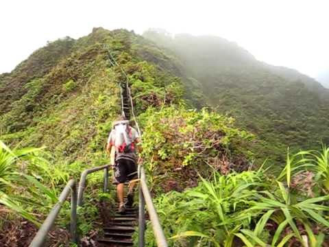 Island Trails - Haiku Stairs (Stairway to Heaven)-Moanalua Valley