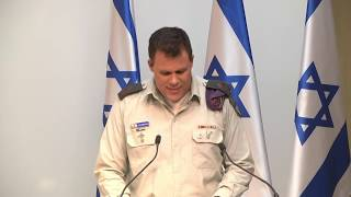 Lt. Col. Jonathan Conricus, presents IDF new findings about Hezbollah Attack Tunnel