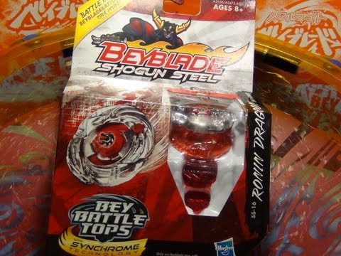 Beyblade Shogun Steel (Hasbro) - RONIN DRAGOON LW160BSF - Unboxing. Review. Test Spin