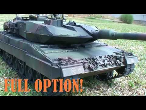 TAMIYA 1:16 Scale RC Tank - German Leopard 2A6 Battle Tank (Part 1 of 2)