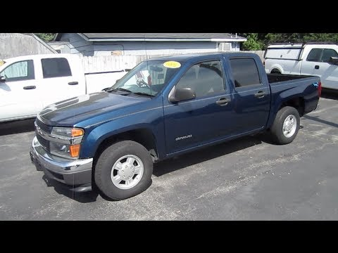 2004 CHEVROLET COLORADO PICKUP TRUCK START UP. WALK AROUND and review