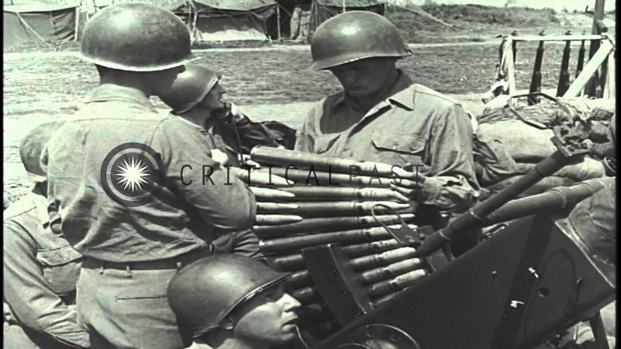 Anti-aircraft Gun Round a 40 mm Anti Aircraft Gun