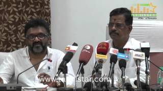 Kalaipuli S Thanu Press Meet Regarding Theri Issue