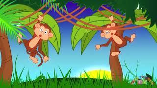 ANIMALS IN THE JUNGLE   Nursery Rhymes TV  Toddler   Kindergarten   Preschool Songs