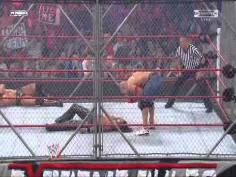 John Morrison vs. John Cena vs. The Miz (WWE Championship Triple Threat Steel Ca