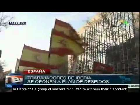 Spain: Iberia workers protest job cuts