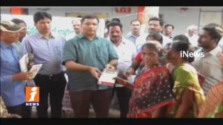 MLA Jalagam Distributes Upadi Hami Job Cards To Poor People In Yanambailu | Kothagudem | iNews
