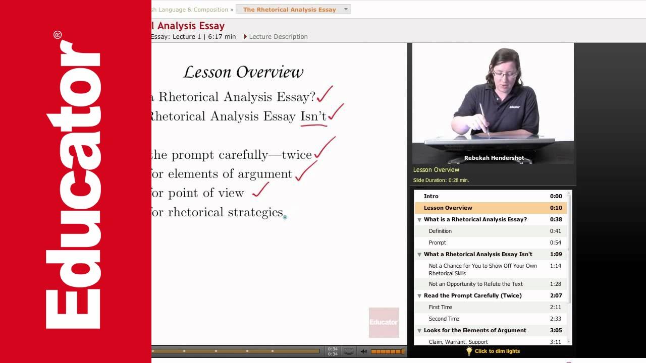 Rhetorical analysis essay for engineering