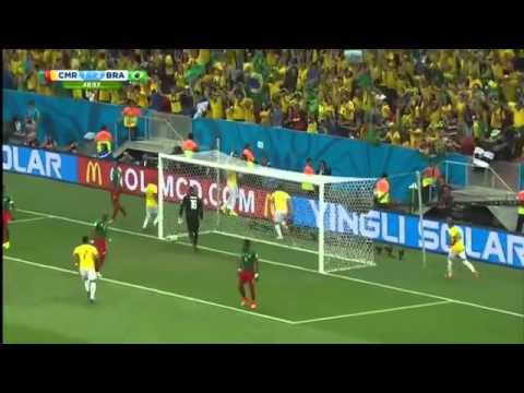 Brazil 4 - 1 Cameroon! NEYMAR - 2 goals