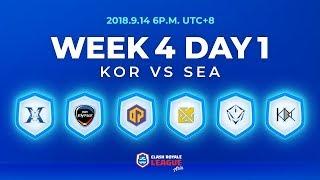 Clash Royale League Asia Season2 - Week 4 Day 1
