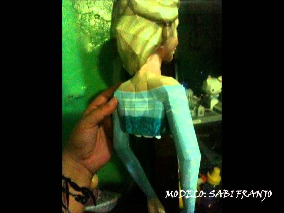 Papercraft Elsa Frozen