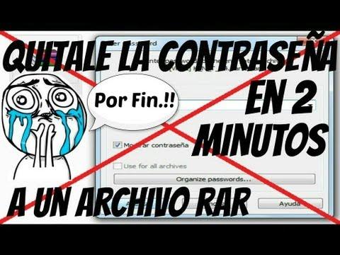 Como Quitar La Contraseña A Un Archivo RAR 2013