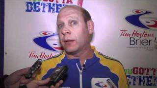2011 Tim Hortons Brier - Draw 3 Media Scrum