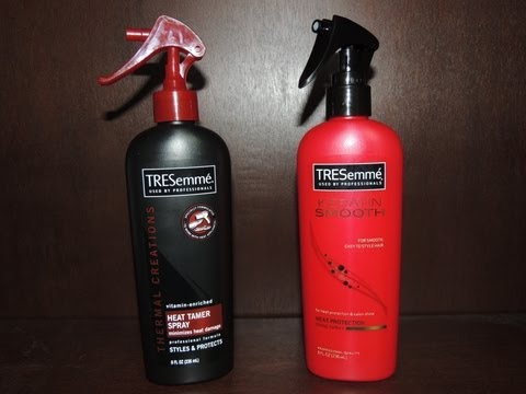 Tresemme Keratin Smooth Heat Protection Shine Spray vs. Heat Tamer Spray