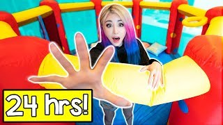 24 Hours In A Bounce House Challenge!