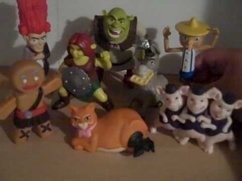 Shrek 4 McDonalds Full Set Toy Review