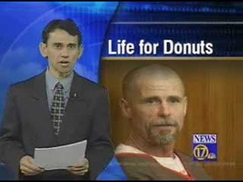 white guy gets life for stealing 50 cent donut.