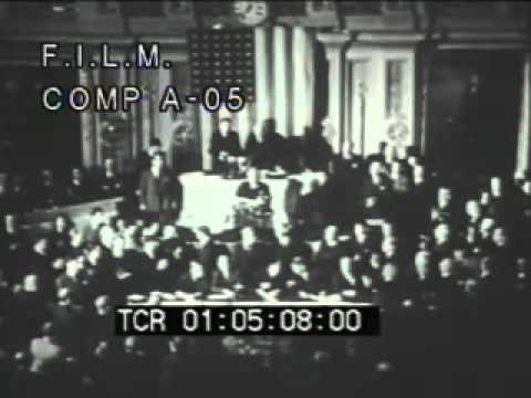 US Enters WWII (stock footage / archival footage)