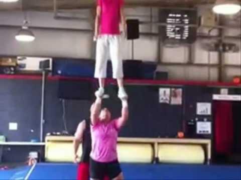 Girl Lifts Girl Overhead Lifting Girls Overhead